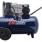 Air Compressor, 30-Gallon Horizontal Tank, Portable, Single-Stage, 10.2CFM, 3.7HP, 1 Phase (Campbell Hausfeld VT6271)
