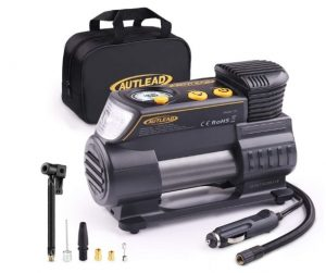 AUTLEAD C2 12V DC Portable Air Compressor Heavy Duty Tire Inflator Pump with Digital Gauge for Car Tires and Other Inflatables