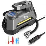 HAUSBELL Portable air Compressor for Car Tires, 12V DC Air Compressor tire inflator Pump, 150 PSI