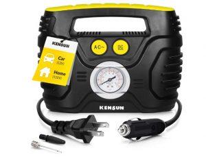 Kensun Portable Air Compressor Pump for Car 12V DC and Home 110V AC Swift Performance Tire Inflator 100 PSI for Car
