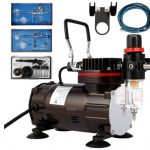 VIVOHOME 110-120V Professional Airbrushing Paint System with 1/5 HP Air Compressor and 3 Airbrush Kits